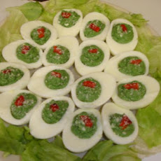 Spinach-stuffed Eggs