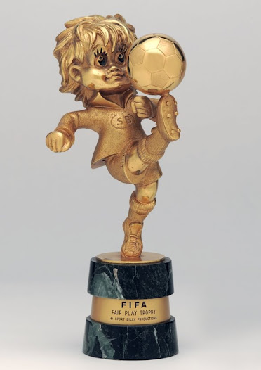 """""""I find the the Fair Play Trophy, first awarded in Argentina '78, rather difficult to comprehend..."""" David Goldblatt, Football Writer"""