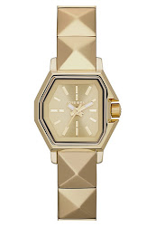 DIESEL 'Z Back Up' Pyramid Bracelet Watch, 29mm x 23mm
