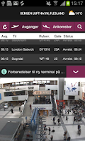 Screenshot of BGO Airport