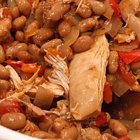 Slow Cooker Tex Mex Chicken & Beans