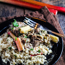 Persian Rhubarb and Beef with Rice (Khoresht-e Rivas)