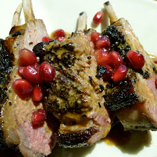 Wide Awake Rack of Lamb with Coffee Pomegranate Cream Sauce