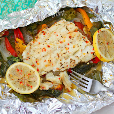 Cod and Spinach in Foil Packets