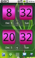 Screenshot of FlipClock NiceAll Pink Widget