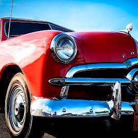 1949 Vintage Ford by Nancy Senchak - Transportation Automobiles