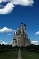 Screenshot of castle and sky LWallpaper Free
