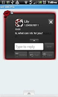 Screenshot of GO SMS THEME/RedZebra1