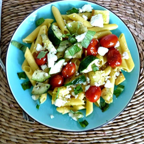 Pasta Primavera with Feta Cheese