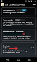 Screenshot of SMS-Safe Message System