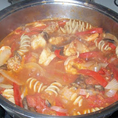 Shrimp and Turkey Sausage Cacciatore Stew