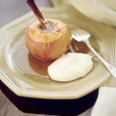 Baked Apples with Spiced Ricotta and Maple Syrup