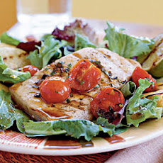 Grilled Swordfish with Tomato-Molasses Dressing