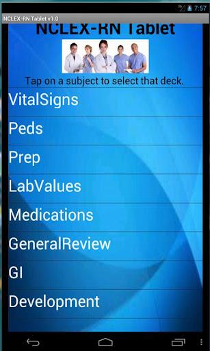 Tablet Flashcards NCLEX-RN