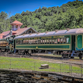 Eureka Springs Train Station by Ron Meyers - Transportation Trains