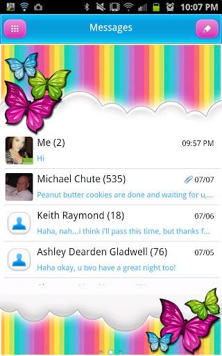 GO SMS - Rainbow Delight Sky