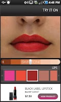 Screenshot of NYX Cosmetics Mobile