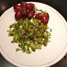Shaved Broccoli And Flame Grape Salad