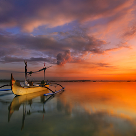 Alone by Nghcui Agustina - Transportation Boats