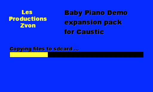 Baby Piano demo for Caustic