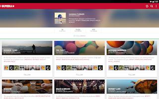 Screenshot of Guvera Music