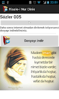 Screenshot of Risale-i Nur Dinle