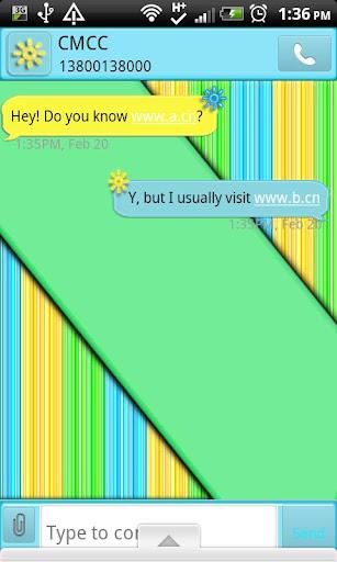 GO SMS THEME SummerColors