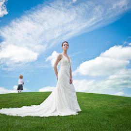 by Karin  Lynn - Wedding Bride ( child, sky, woman, wedding, photography )