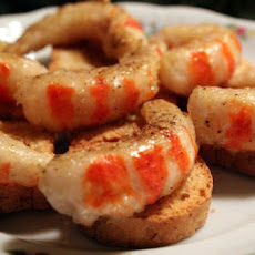 Mustard-Ginger Shrimp Canapes