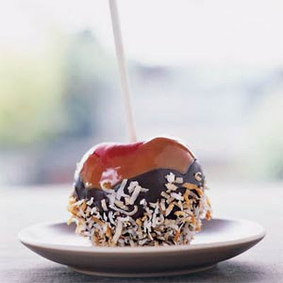 Chocolate-Coconut Caramel Apples
