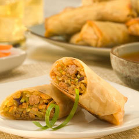 Turkey Egg Rolls With Sweet Lime Dip