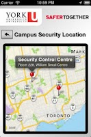 Screenshot of York U Safety