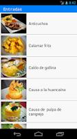Screenshot of Cocina Perú Premium