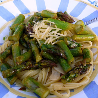 Sauteed Asparagus with Linguine and an Update