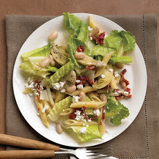 Mediterranean Salad with Artichokes, Penne, and Sun-Dried Tomatoes