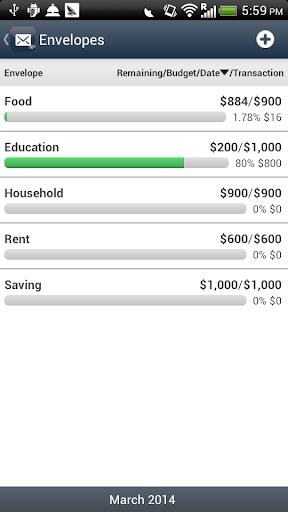 Envelope Budget - screenshot