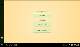 Screenshot of Bible Reading Schedule