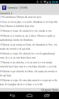 Screenshot of Yoruba Bible Text
