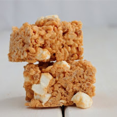 Butterscotch Peanut Butter Rice Krispies Treats
