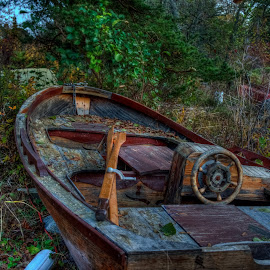Going nowhere by Lasbi Naboj - Transportation Boats ( dry, hdr, finland, artstic, landscape, boat )