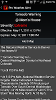 Screenshot of Pro Weather Alert