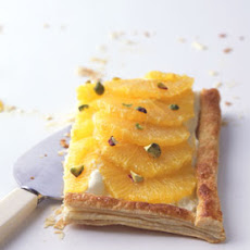 Orange Tart with Orange Cream and Pistachios