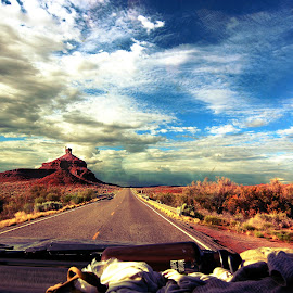 roadtrip by Brittany Todd - Landscapes Travel ( redrock, friends, sky, utah, truck, road, roadtrip )