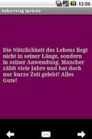 Screenshot of Geburtstag Sprüche