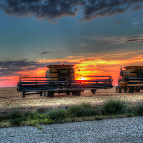 Harvest Sunset by Brian Robinson - Transportation Other
