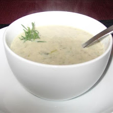 French Mushroom and Scallion Soup
