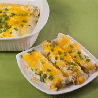 Buffalo Chicken Enchiladas with Creamy Ranch Sauce
