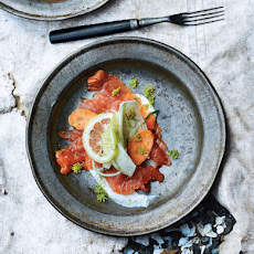 Cured Salmon with Fennel and Carrot Salad