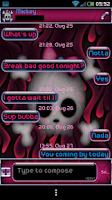 Screenshot of GO SMS PRO LINDA'S PINK THEME