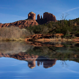 Cathedral Rock by Brian Carlson - Landscapes Deserts ( nature, arizona, red rocks, sedona )